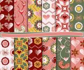 Abstrakte Vektor legen Sie Papier für Scrapbook valentine