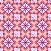 Abstract vector seamless pattern with geometric shapes