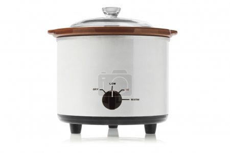 Photo for Electric Slow Cooker On White Background - Royalty Free Image