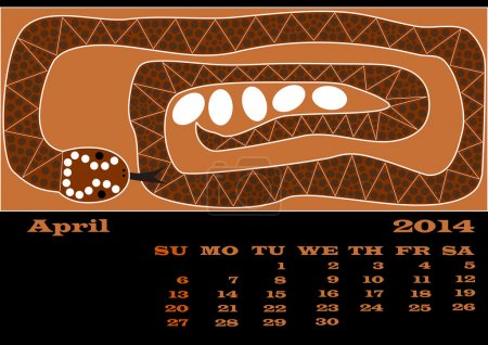 A calender based on aboriginal style of dot painting