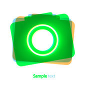 Vector abstract amera icon on white background Eps 10