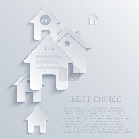 Illustration pour Vecteur fond icône immobilier. EPS10 - image libre de droit