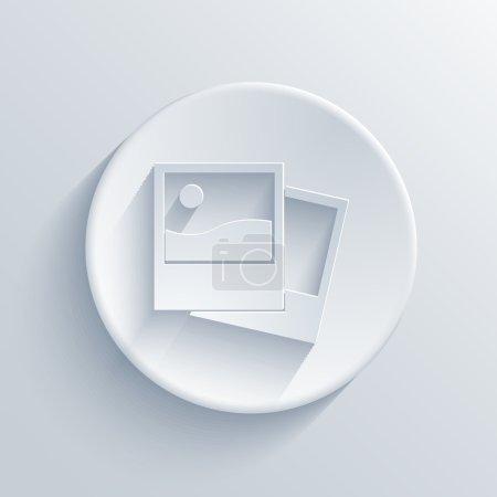 Illustration pour Icône de cercle lumineux vectoriel. Eps10 - image libre de droit