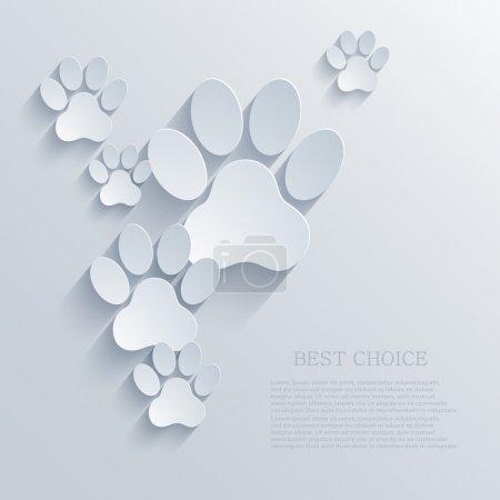 Illustration pour Fond de patte vectorielle. Eps10 - image libre de droit