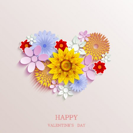 Illustration for Vector valentines day background - Royalty Free Image