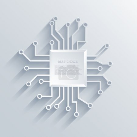 Illustration for Vector modern circuit board background. Eps 10 - Royalty Free Image