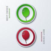 Vektorové ikony moderní kruh