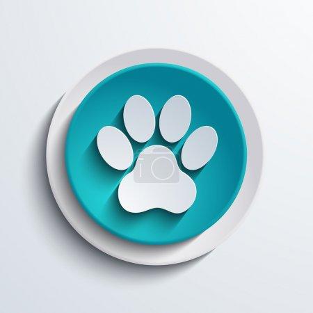 Illustration pour Vecteur moderne icône cercle bleu. Conception d'éléments Web - image libre de droit