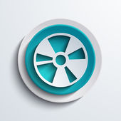 Vector modern blue circle icon Web element design