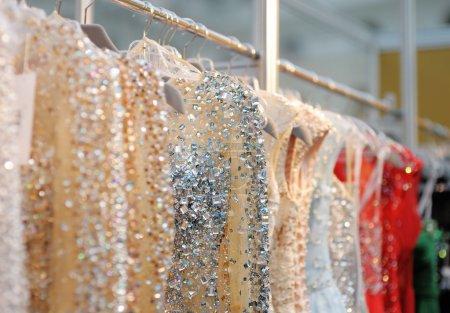 A few beautiful wedding or evening dresses