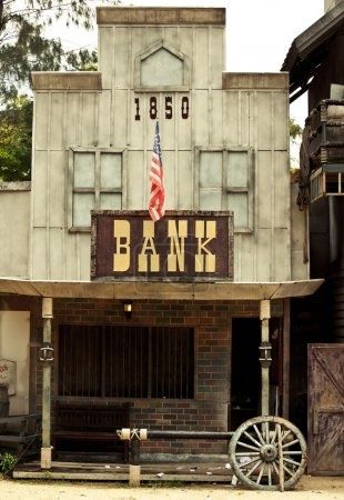 Bank in Wild West style