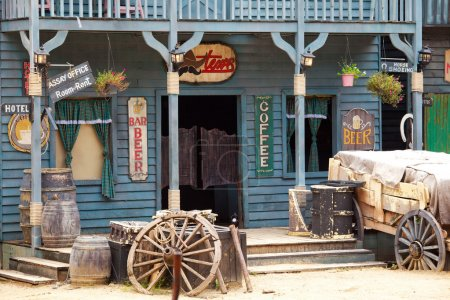 Photo for Old western style building and bar - Royalty Free Image