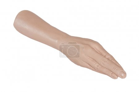Photo for Sex toy - giant hand prosthesis for fisting isolated on white background - Royalty Free Image