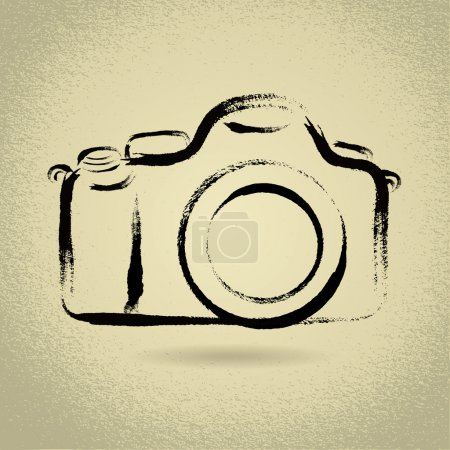DSLR Camera with Brushwork