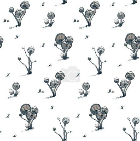 Vector EPS8 illustration. Fungus growing pattern....