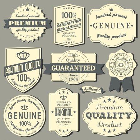 Illustration pour Un ensemble d'étiquettes de design vintage et insignes. - image libre de droit