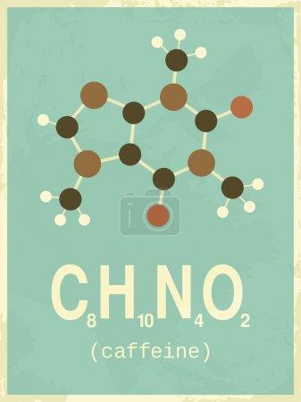 Retro Style Caffeine Poster