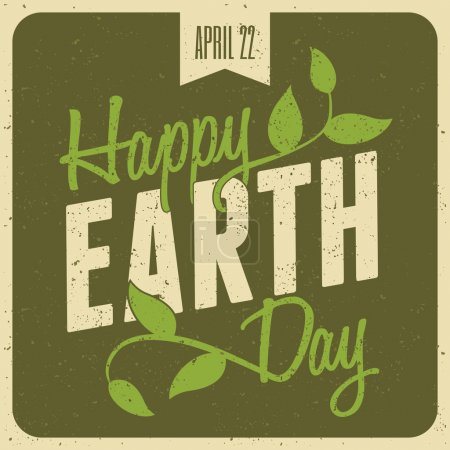 Illustration for Typographic design poster for Earth Day. - Royalty Free Image