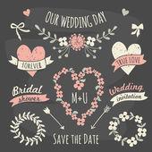 Svatební design prvky kolekce