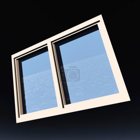 Photo pour Fenêtre d'opportunité donnant sur le ciel bleu - image libre de droit