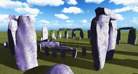 Photo pour Sanctuaire de Stonehenge près d'amesbury en Angleterre - image libre de droit