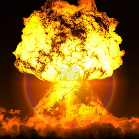 Photo pour Alarme nucléaire - il est temps de supprimer l'arsenal nucléaire - image libre de droit
