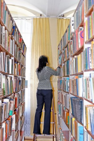 Student at old library
