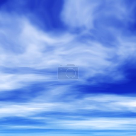 Photo pour Cirrus sur ciel bleu - image libre de droit