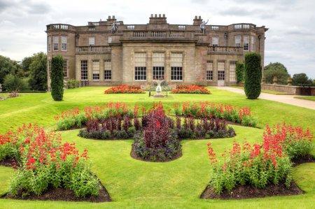Photo pour Jardins officiels de la salle historique de Lyme et parc dans le Cheshire, Angleterre . - image libre de droit