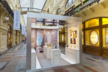 Luxury shopping inside the famous Gum shopping mall in Moscow