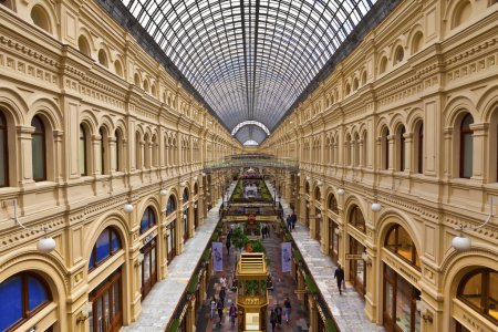Shopping mall in Moscow, Russia.