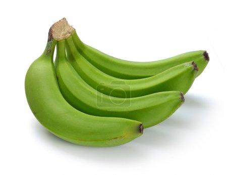 Foto de Paquete de plátano verde sobre un fondo blanco - Imagen libre de derechos