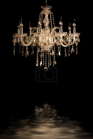 vintage glass lamp black background