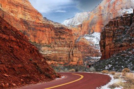 Photo pour Falaises de Zion national park, usa - image libre de droit