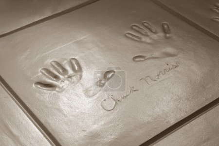Handprints of Chuck Norris