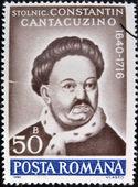 Rumunsko - cca 1990: razítka vytištěno v Rumunsku, ukazuje portrét constantin cantacuzino, 1640-1716, (kronikář), cca 1990