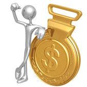Vítěz zlaté medaile dolar