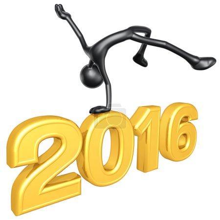 Happy new year golden 2016