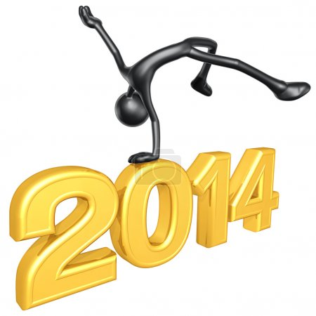 New Year 2014 Gold