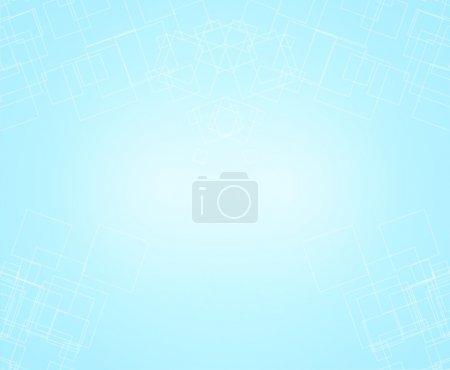Illustration pour Fond bleu ciel pâle avec doux pastel vintage fond lumière solide vecteur de conception - image libre de droit