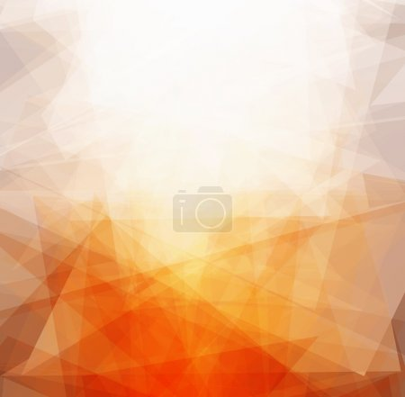 bright triangles sun abstract background vector