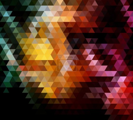colours of earth triangles vector geometric background with grad