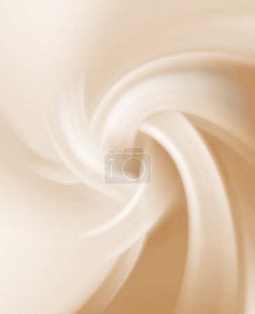 Illustration for Incorrect spiral ochre soft pale sky smooth pastel background vector illustration with gradients soft colors - Royalty Free Image
