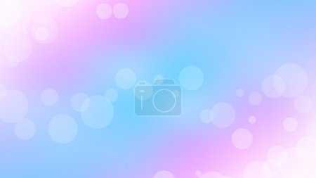 Illustration for Tender pastel bokeh background vector Full HD resolution illustration with space for your text - Royalty Free Image