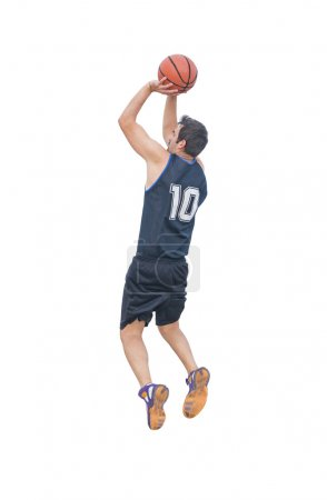 jump shot on white
