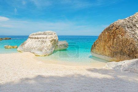 big rocks in Cala Mariolu