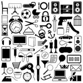 Collection of icons of objects