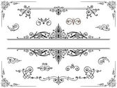 Symmetrical ornament design elements