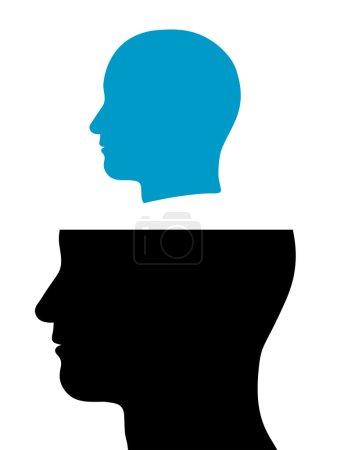 Kopf aus dem Kopf gelöst