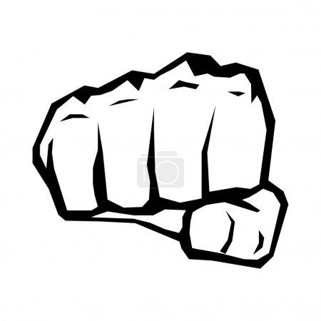 Fist silhouette.